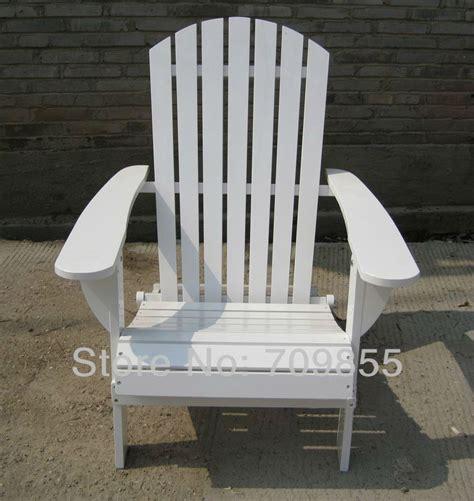 Outdoor Furniture Adirondack Chair White Finish Patio