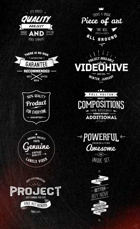 after effects project files and templates free after effects templates vintage labels free after