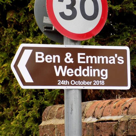 Wedding Signs by Personalised Wedding Sign By Signs