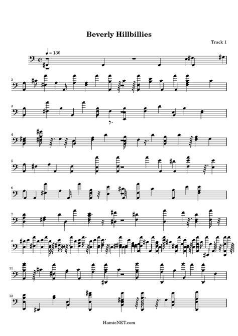 theme song beverly hillbillies beverly hillbillies sheet music beverly hillbillies
