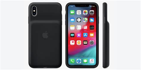 apple officially releases smart battery cases for iphone xs max xr with qi charging support