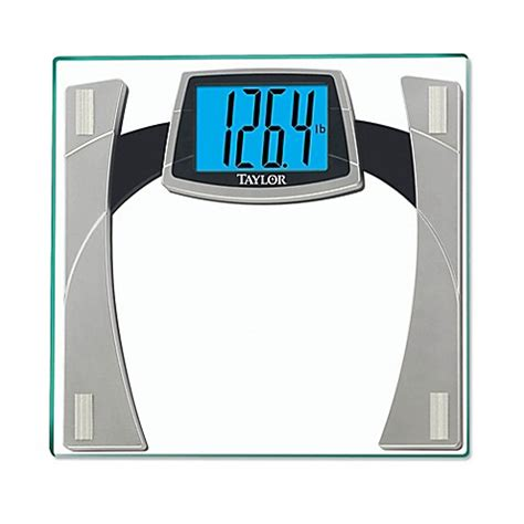 taylor digital bathroom scale taylor digital glass bathroom scale with large readout in