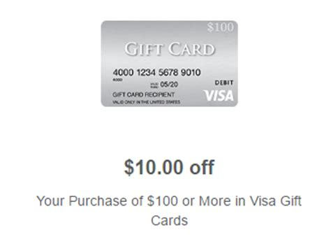 Gift Cards Visa Or Mastercard - meijer 10 off 100 in visa or mastercard gift cards doctor of credit