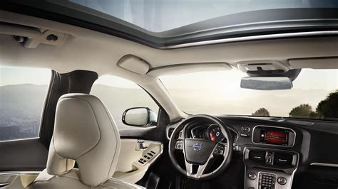 volvo hatchback interior volvo v40 hatchback now starts at rs 24 75 lakhs in india