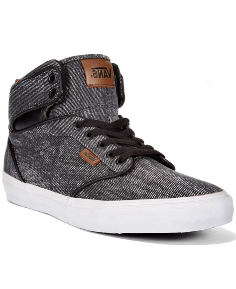 vans sneakers mens vans s atwood hi washed twill sneakers in black for