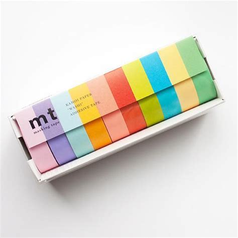 Washitape Masking 10 mt masking set of 10 light colors kawaii pen shop