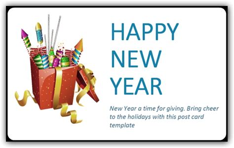 happy new year card template microsoft happy new year postcard template ms office templates