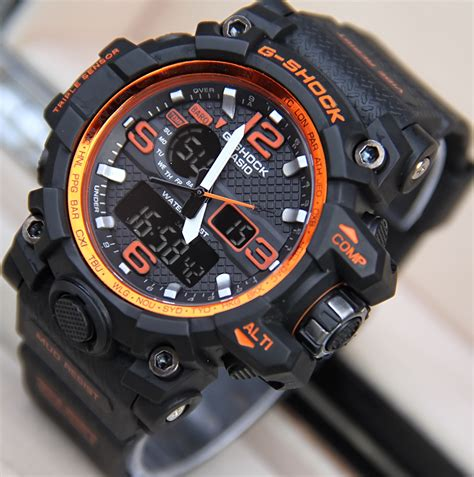Reddington R8034 Silver Black Orange jual jam tangan g shock gpw1000 mudmaster dualtime g shock
