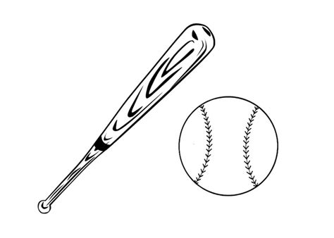 baseball baseball bat coloring pages