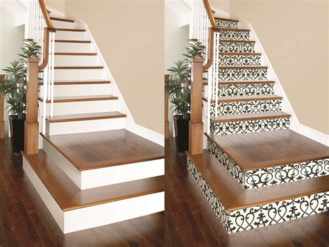 DIY Project: Wallpaper on Stair Risers! ? Brewster Home