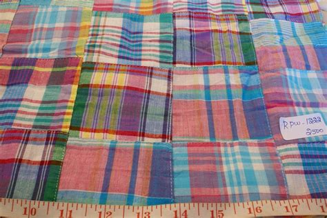 Plaid Patchwork Fabric - patchwork madras fabric plaid fabric linen fabric