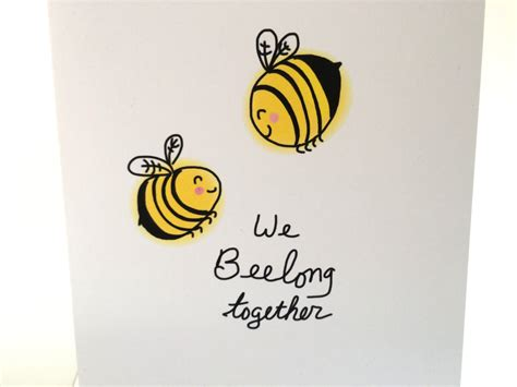 boyfriend puns we bee long together bee valentines day card bee doodle