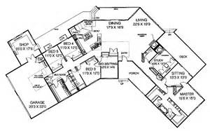 Planner 5d Feet five bedroom ranch hwbdo60984 ranch house plan from