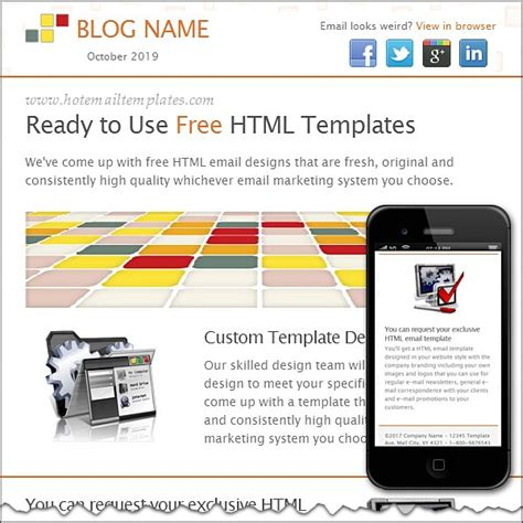 bright tiles free html e mail templates