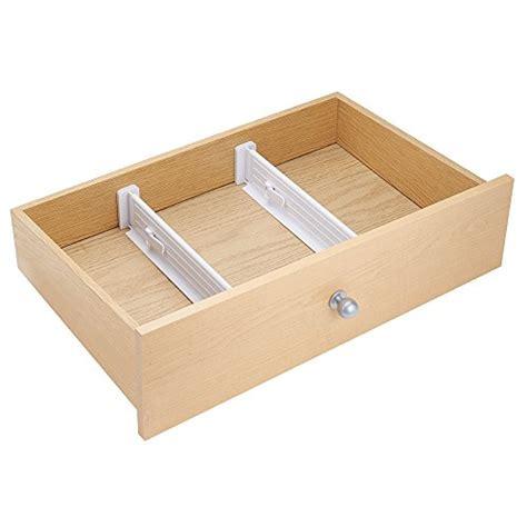 separatori cassetti mdesign set da 2 divisori per cassetti regolabile