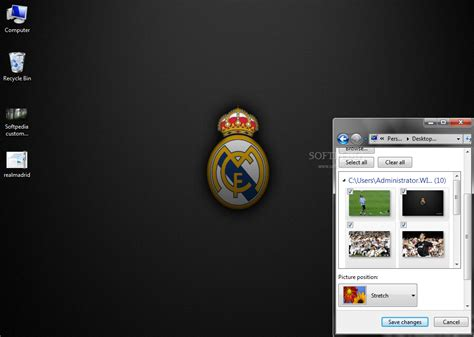 free download themes for windows 7 real madrid real madrid windows 7 theme download