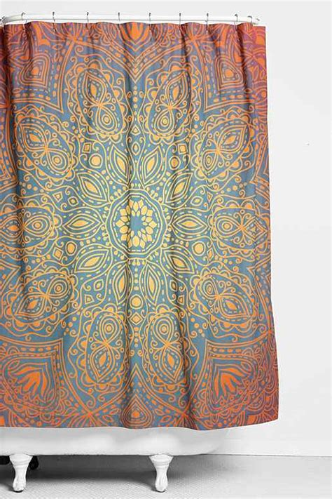 urban outfitters shower curtain magical thinking glow medallion shower curtain