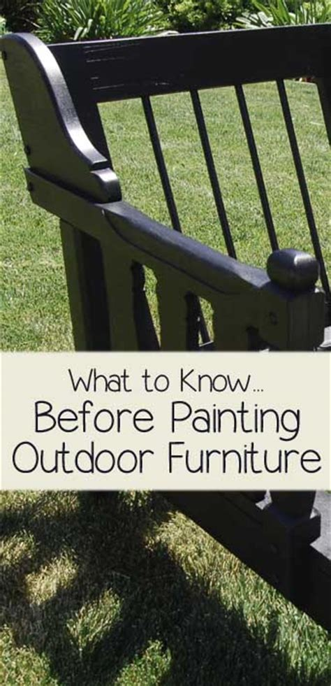 How To Paint Outdoor Furniture by What To Before Painting Outdoor Furniture Painted