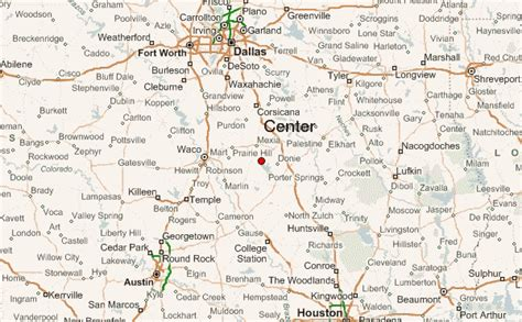 center texas map center texas location guide