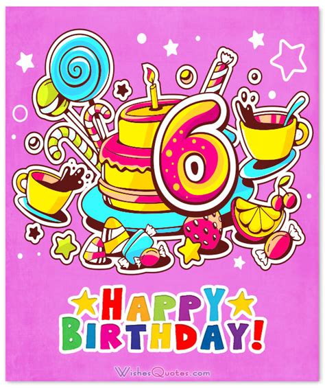 6 Year Birthday Card Sayings 6 Year Birthday Card Sayings 28 Images 6th Birthday