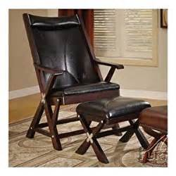folding chair with ottoman in black bycsat