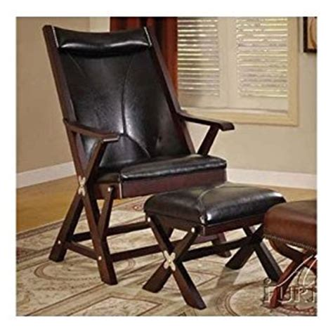 Folding Living Room Chair Folding Chair With Ottoman In Black Bycsat Living Room Furniture Sets