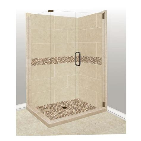 bathroom tile kits shop american bath factory mesa sistine stone wall stone