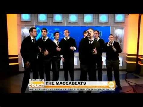 the couch cbs maccabeats on the couch cbs new york youtube