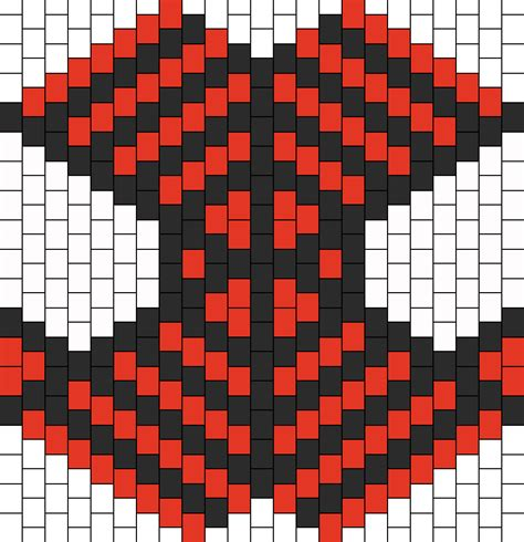 spiderman bead pattern spiderman kandi mask bead pattern peyote bead patterns