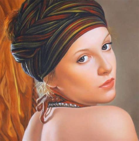 pinturas al oleo de rostros rostros retratos de mujeres en tres cuartos de perfil arte