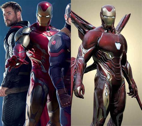 avengers endgame iron man suit comparison