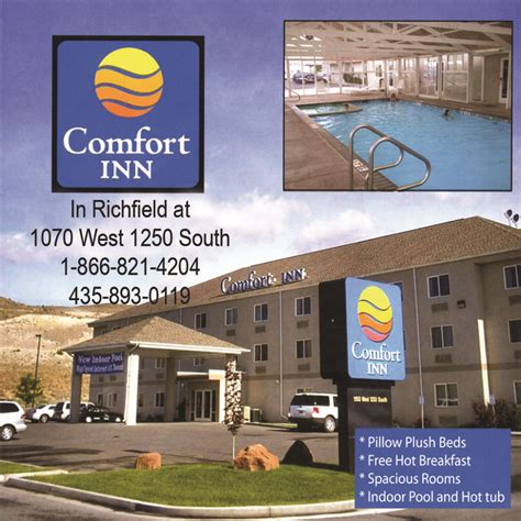comfort inn richfield utah s trail country recreate in utah