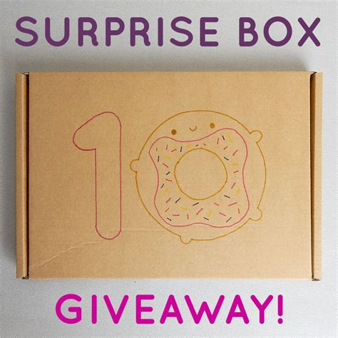 Giveaway Box - surprise box giveaway asking for trouble