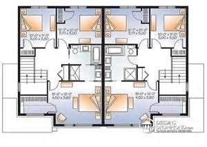 4 Bedroom 1 Story House Plans d 233 tail du plan de maison multi logements w3064