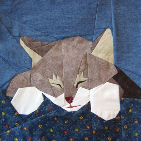 Patchwork Cat Quilt Block Patterns - 38 best fox quilts images on fox fox quilt