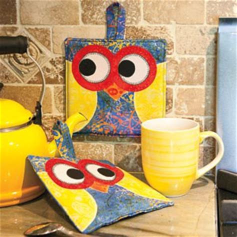 owl pot holders tutorial free pattern included tutorial