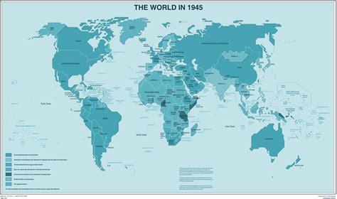 world map 1945 the world in 1945 mapsof net