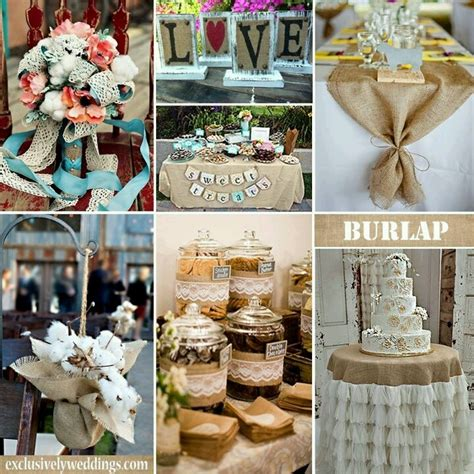 wedding table decorations crafts 56 best images about cotton and burlap weddings on receptions centerpieces and tables