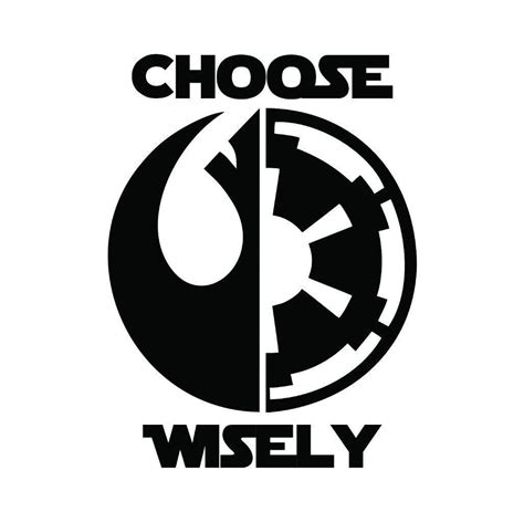 Auto Sticker Star Wars by Star Wars Choose Wisely Vinyl Decal Fd1006