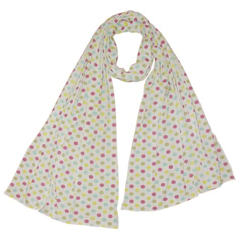 spotty scarf handmade and fair trade by earth squared