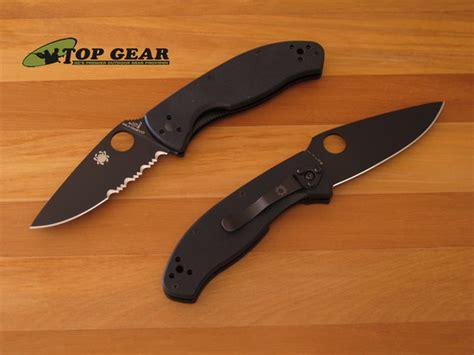 spyderco tenacious black serrated spyderco tenacious folding knife c122gbbkps serrated