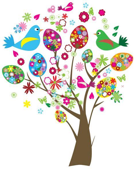 clipart auguri albero di pasqua illustrazione vettoriale illustrazione