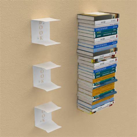 mensole porta libri mensola porta libri invisibile in pila in 3 diverse