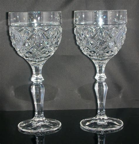 glass barware diamond cut bar glass stemware glassware