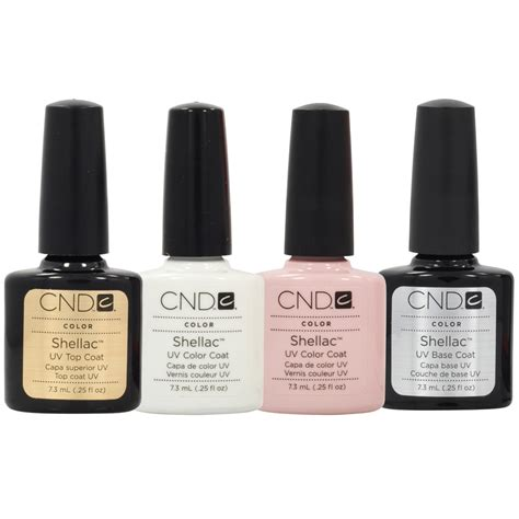 Cnd Gel L by Cnd Shellac Manicure Kit Top Base Coat Color Nail