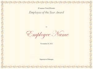best employee certificate template employee of the year certificate template excel xlts