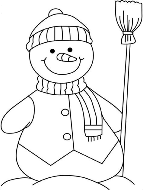 snowman coloring pages for kindergarten snowman template snowman crafts free premium templates