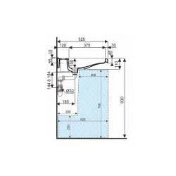 lavabo rectangle pmr autoportant 55 cm allia latitude