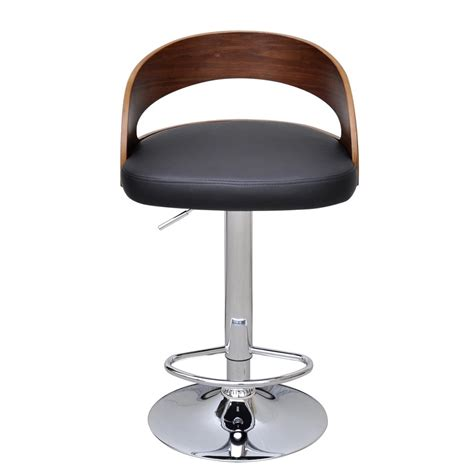 Stool With Backrest 2 pcs bentwood bar stool with backrest height adjustable
