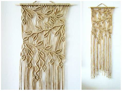 macrame home decor macrame wall hanging sprigs 2 handmade macrame home decor